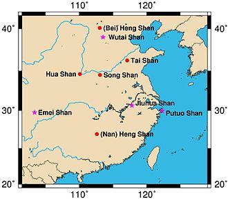 Resultado de imagem para montanha sagrada na china