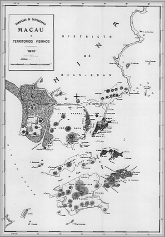 Portuguese Macau - Image: Mapa Macau 1912