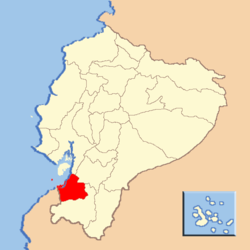 Location of El Oro Province in Ecuador.