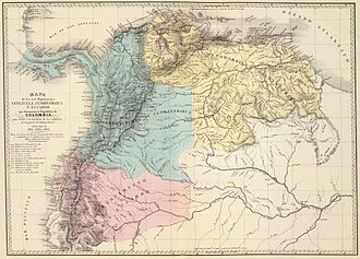 Subdivisions of Gran Colombia - Gran Colombia departments in 1820.
