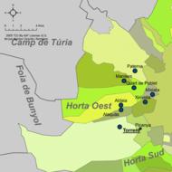 Mapa de l'Horta Oest.png