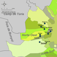 Municipalities of Horta Oest