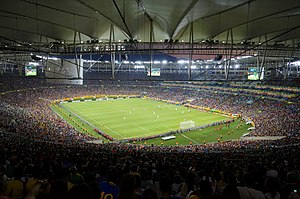 Football in Brazil - Night view of Maracanã Stadium, June 2013.