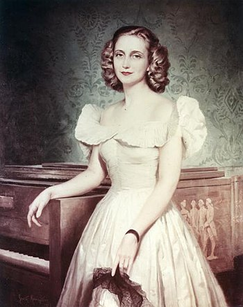 Portrait of Margaret Truman painted by Greta K...