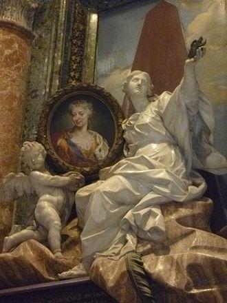 Maria Clementina Sobieska - Memorial in St. Peter's, Rome