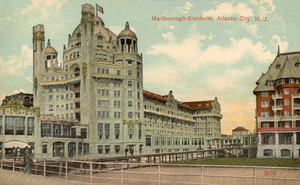 Marlborough-Blenheim Hotel - postcard, Marlborough-Blenheim Hotel