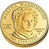 Martha Washington First Spouse Program coin (obverse)