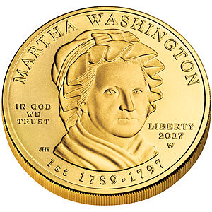 Presidential $1 Coin Program - Image: Martha Washington First Spouse Coin obverse