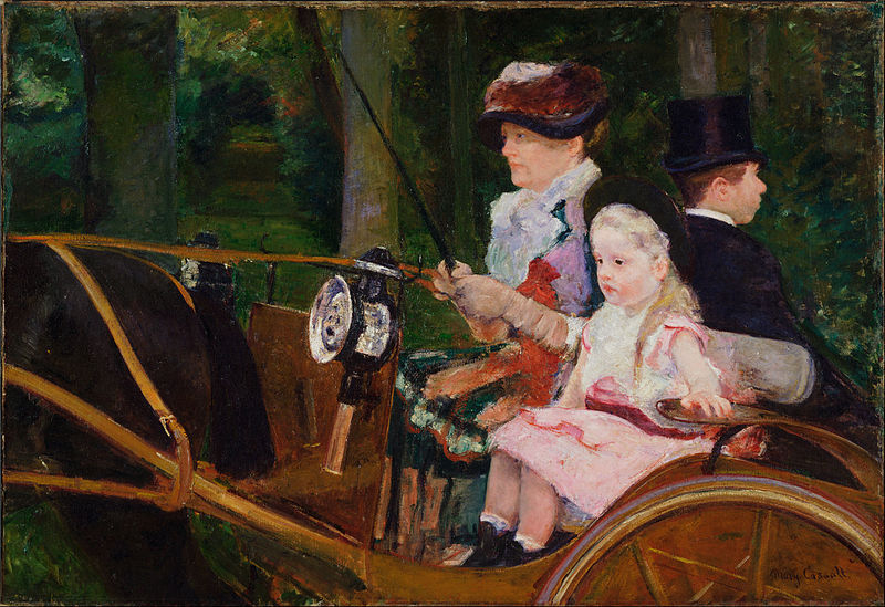 File:Mary Stevenson Cassatt, American - A Woman and a Girl Driving - Google Art Project.jpg