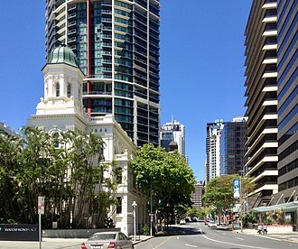 Mary Street, Brisbane - Mary Street with Naldham House on the left.