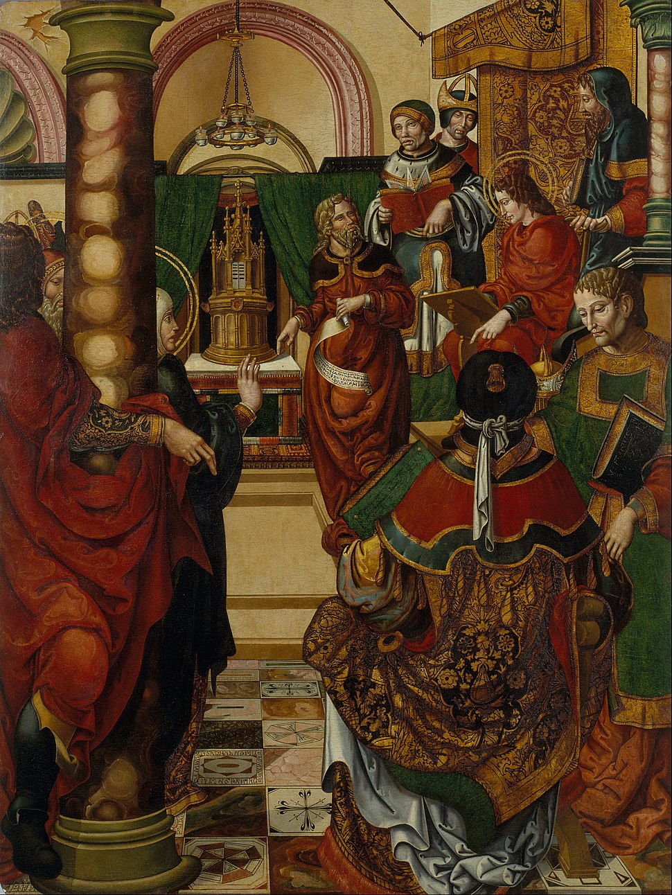 Master of Sigena - Jesus amongst the Doctors of the Law - Google Art Project