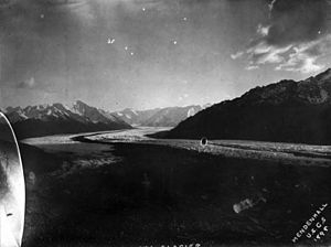 Matanuska Valley Colony - View of Matanuska Glacier in 1898, photographed by Walter Curran Mendenhall.