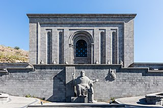 Matenadaran Art museum, archive, research institute in Yerevan, Armenia