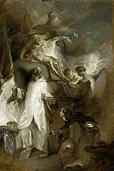 Saint Felix of Valois and Saint John of Matha with the Holy Trinity