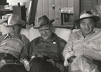 John Bugas - Bugas, Max Fisher, and Henry Ford II at Bugas's Wyoming ranch