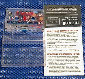 Cassette demagnetizer - Maxell cassette type demagnetizer HE-44.
