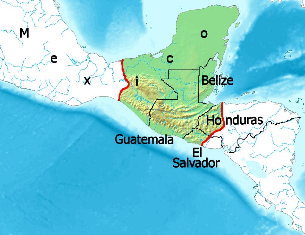 Maya region w english names