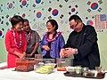Mazie Hirono and Ige's making kimchi.jpg