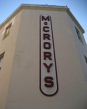 McCrory Stores - McCrory's store