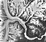 Meade Glacier, junctions of multiple valley glaciers, circa 1970s (GLACIERS 5242).jpg