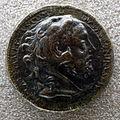 Medaglione di commodo, 192 dc, recto con testa dell'imperatore nella pelle di leone.JPG