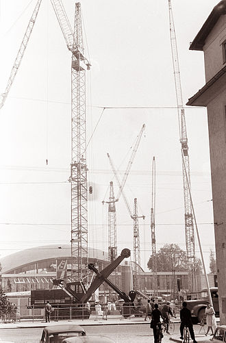 Exhibition and Convention Centre (Ljubljana) - International Construction Fair at the Exhibition and Convention Centre in 1961