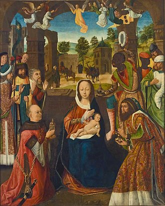 Winnipeg Art Gallery - Image: Meister der Heiligen Sippe (II) Die Anbetung der Könige (Winnipeg Art Gallery)