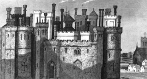 Old drawing of a castle