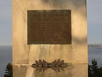 Odderøya - April 9, 1940 Battle Memorial