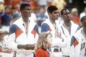 United States men's national basketball team - Members of the Team USA during the 1987 Pan American Games.