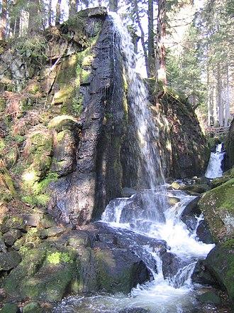 Menzenschwand - Wasserfalls in the gorge of the Menzenschwander Alb