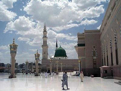 Masjid Nabawi. La mezquita de Medina.