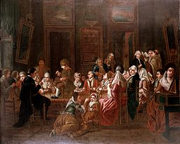 Mesmeric therapy. Oil painting, 1778-1784 Wellcome L0014796