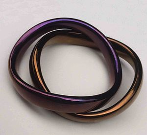 Cock ring - Anodised titanium ergonomic cock and ball rings