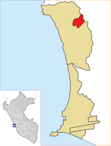 Location of Mi Perú in the Constitutional Province of Callao
