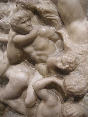 Battle of the Centaurs (Michelangelo) - Image: Michelangelo, centauromachia, 1492 ca. 04