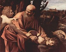 Il sacrificio di Isacco, Caravaggio, Galleria degli Uffizi, 1594-1596