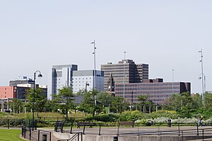 Skyline of Middlesbrough town centre