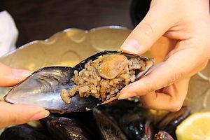 "Dolma - ""Midye dolma"", Stuffed mussels"