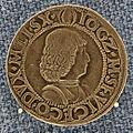 Milano, testone di galeazzo maria e ludovico maria sforza, 1481-94.JPG