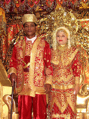 Minangkabau wedding in West Sumatra