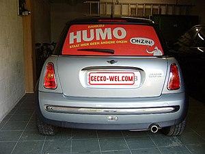 Mini Cooper with Humo advertisement.jpg