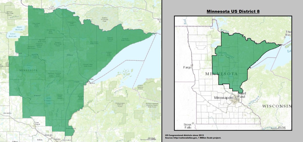 Minnesotas Th Congressional District Wikipedia - Mn on us map