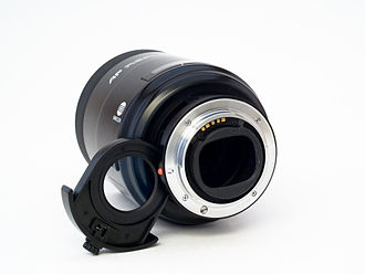 Minolta A-mount system - The lens side of the mount.