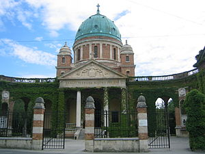 Mirogoj Cemetery - Main entrance at Mirogoj (Inscription: To the King of Ages Whom Everything Lives)
