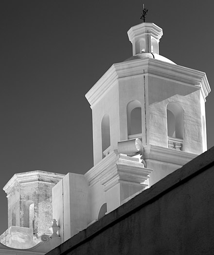 Mission San Xavier del Bac, Towers by Philip G Coman, 2018 Mission San Xavier del Bac, Towers.jpg
