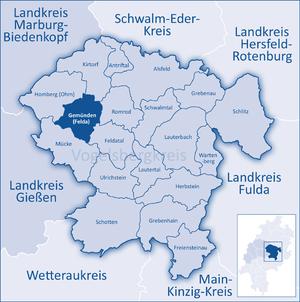 Gemünden (Felda) - Image: Mittelhessen Vogelsberg Gem