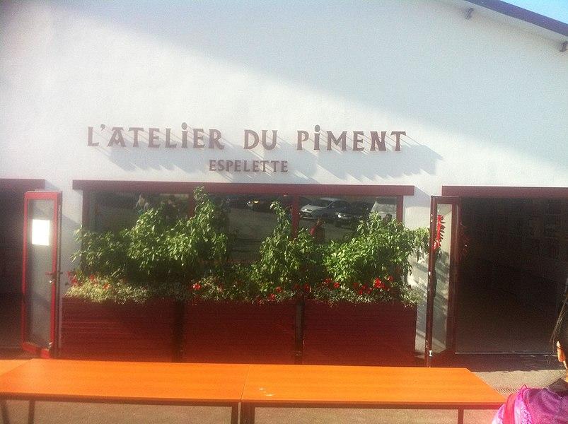 L'atelier du piment pendant la fête du piment a Espelette
