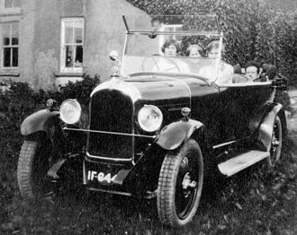 "Vehicle registration plates of the Republic of Ireland - Early photograph of car with a Cork registration plate ""IF 644"""