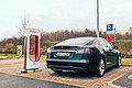 Model S charging at a Tesla Supercharger station in Germany.jpg